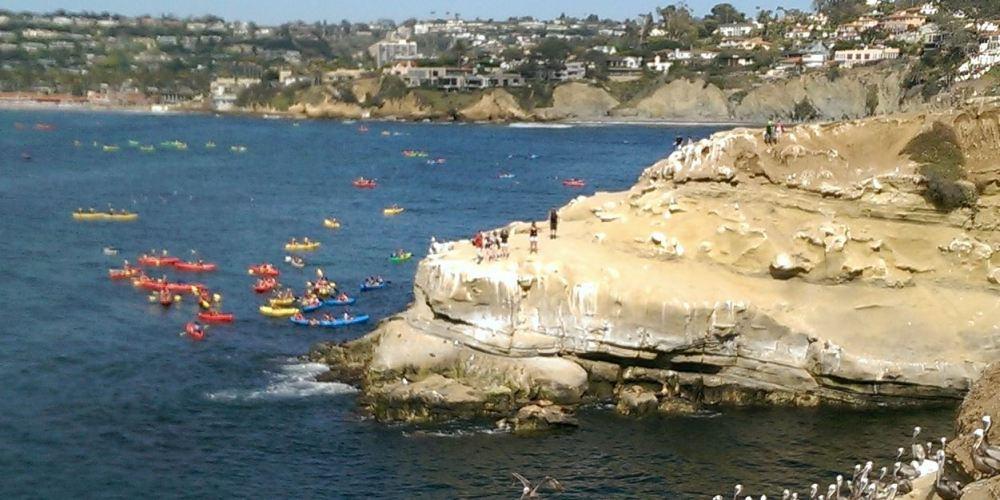 Kayaking in La Jolla