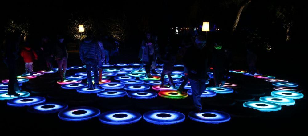 Glowing discs