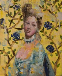 Portrait in Yellow Decor (20x16) oil on canvas 2013