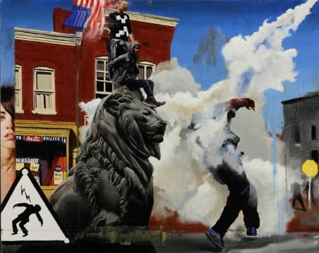 The Lion Waits 24x30 oil on canvas $1,100 web