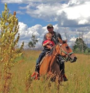 Jean Carlos and Tiarnan near Tennessee Creek