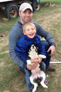 Uncle Chris, Tiarnan and puppy