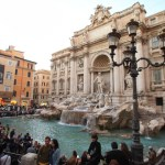 "In Rome in antiquity and tripped while indulge in a mood ""Roman holiday"" in the Trevi Fountain"