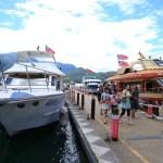 日月潭の遊覧船に乗船し湖面から壮大な景色を楽しみクルージング!