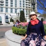 「The Grand America Hotel」4万本のチューリップが咲くホテル中庭