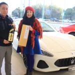 """Maserati Hamamatsu"" this year year thank you! From a dealer of the year!"