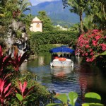 "A canal cruise of nature around a bridge with a different theme of ""Promisdo Land Hualien"""
