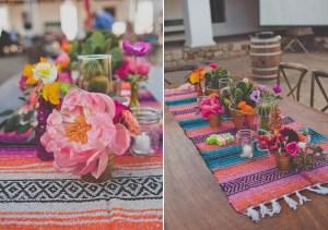 details centre de table mexicain