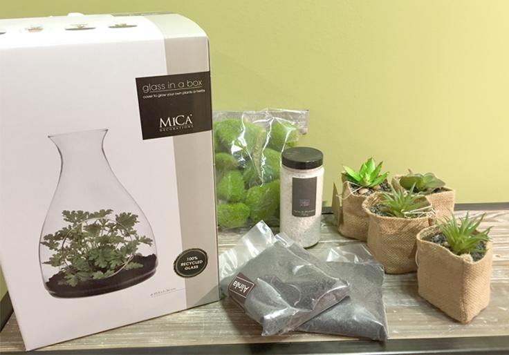 diy terrarium plantes artificielles