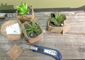 découpe plantes artificielles