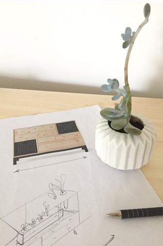 croquis, esquisse meuble DIY
