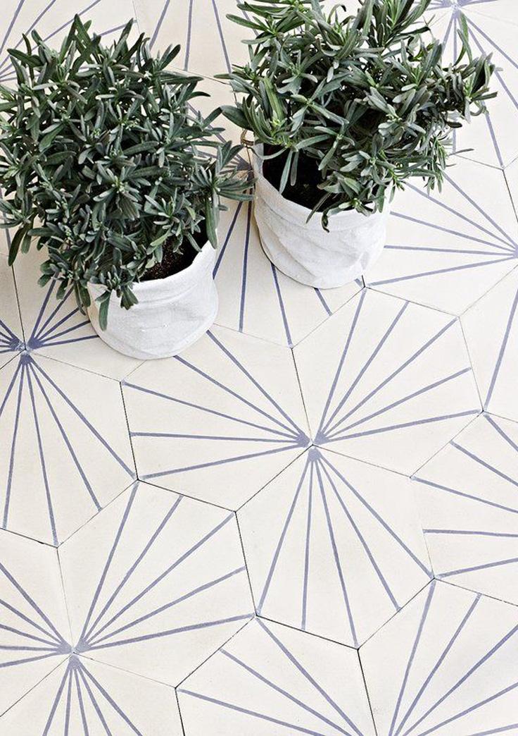 carreaux de ciment géométriques