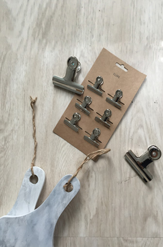 Détails noeud paper board marbré