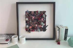 DIY couverture tableau fleuri