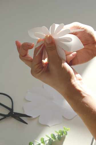 collage fleur DIY