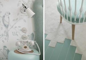 details moquette lapin blanc
