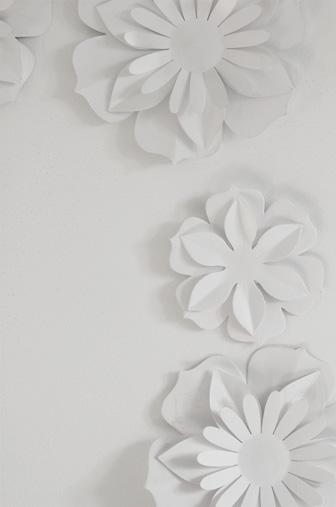 fleur au mur DIY