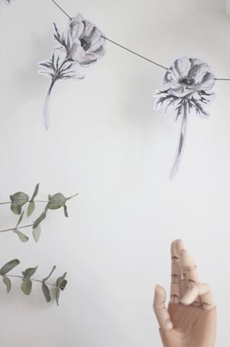 guirlande anemone DIY