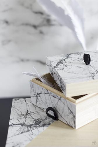 Pimper vos boites avec du marbre DIY