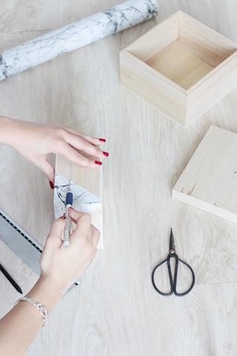 boite marbre DIY