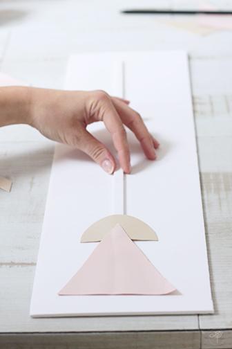 tige centrale DIY tableaux géometriques