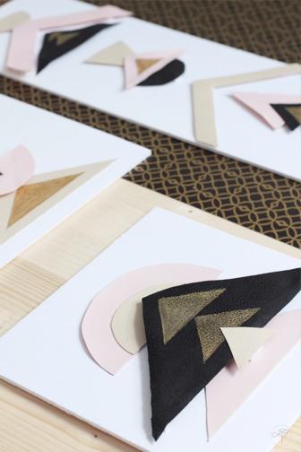 details texture DIY géométrique dorée