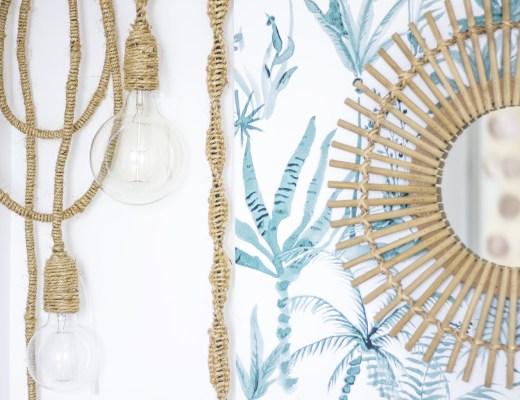 DIY ldp création decoration lampe jungle tropical