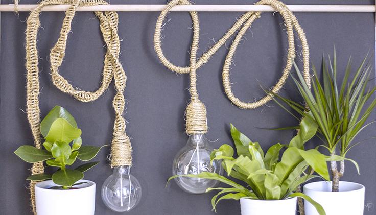 DIY la délicate parenthèse lampe jungle création tuto