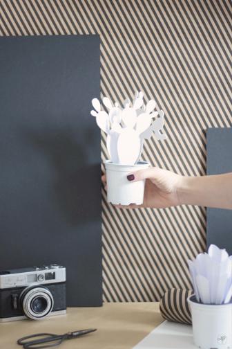 DIY cactus en papier la délicate parenthèse blog déco