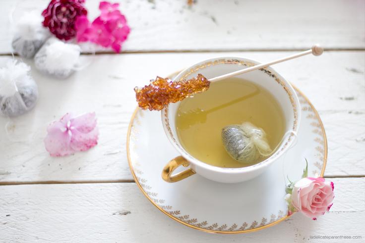 home DIY la délicate parenthèse création teatime fleuri