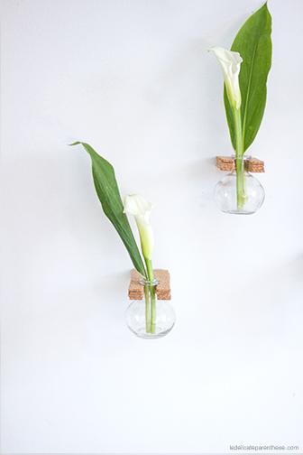 vase à suspendre en liège DIY déco, la délicate parenthese