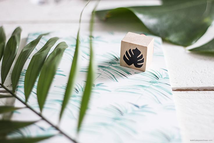motif végétaux à l'honneur dans la box de juillet- jeu concours la delicate parenthese