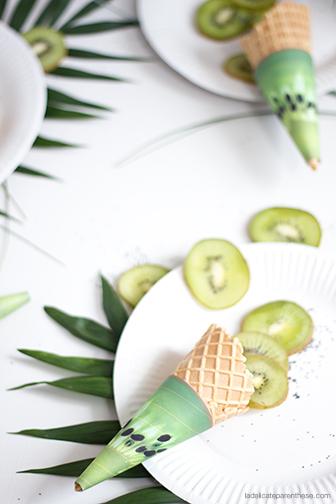 La délicate parenthèse DIY free printable cone de glace fruité wrapped