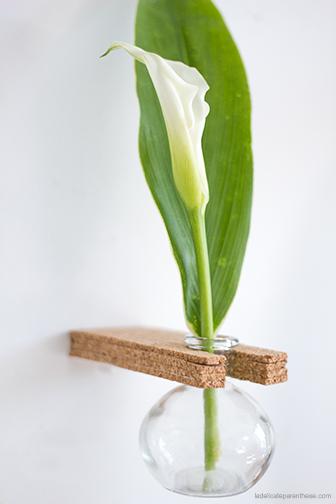 vases à suspendre en liège DIY déco, la délicate parenthese