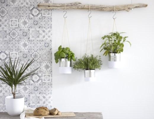La Délicate Parenthèse création jardin décoratif et aromatique suspendu défi 18h39 DIY