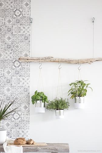 La Délicate Parenthèse création jardin suspendu défi 18h39 DIY