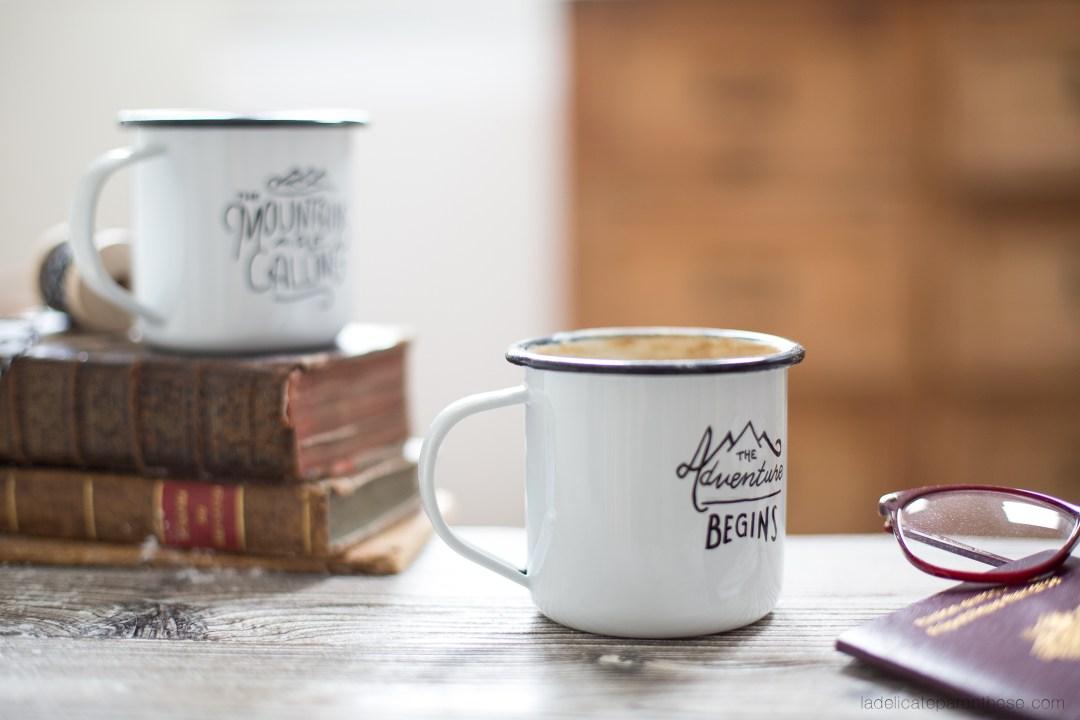 DIY création mug personnalisé esprit voyage aventure