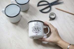 mug émaillé DIY création blog déco façon hipster