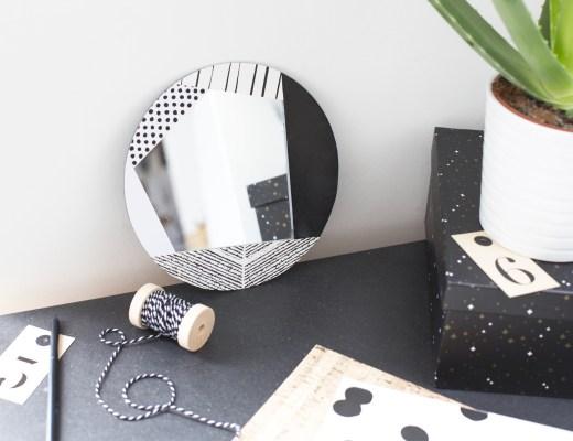 Home décors obtenir un miroir graphique avec du papier peint