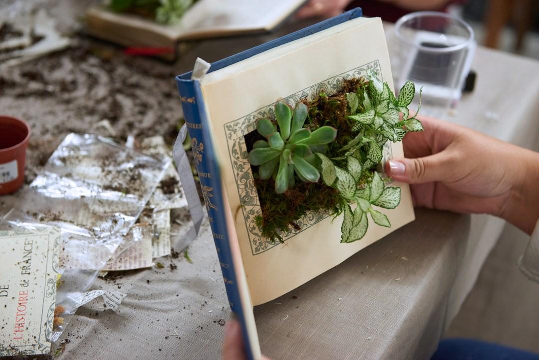 Blog déco créer son livre végétal au workshop leboncoin