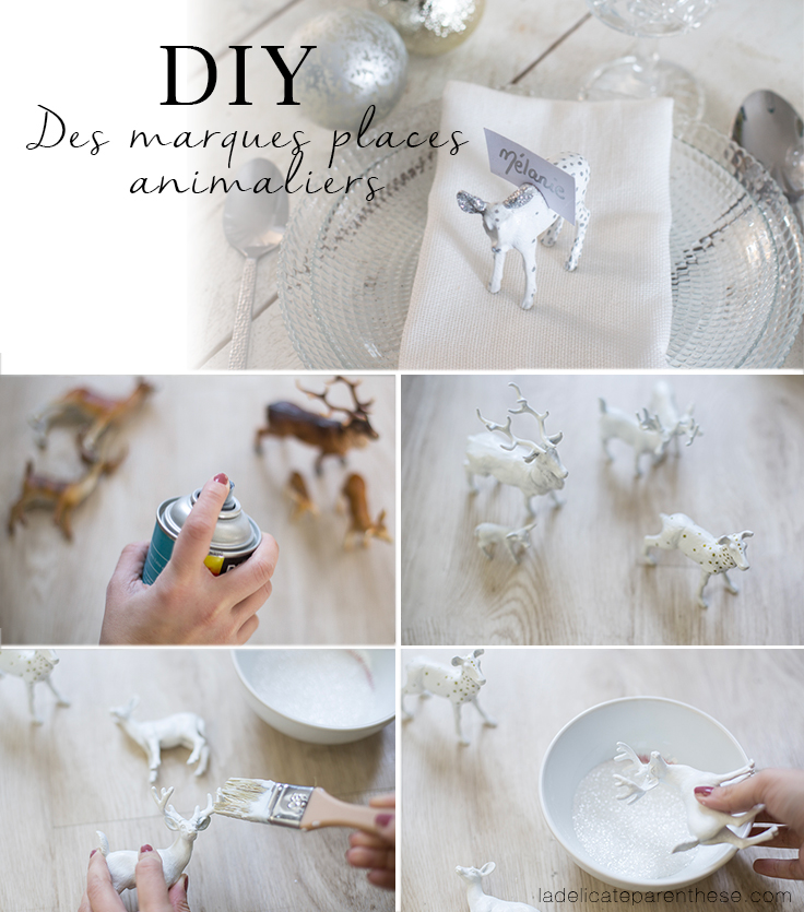 DIY handmade animaux marques places création bricolage