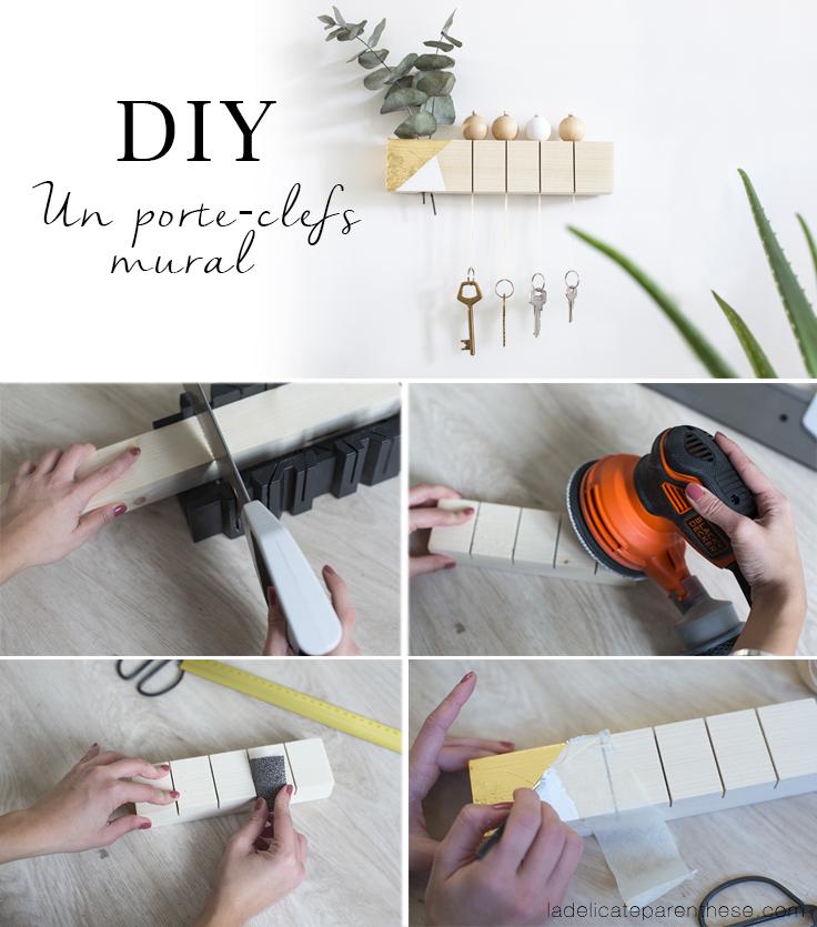 Création Handmade DIY porte clefs mural