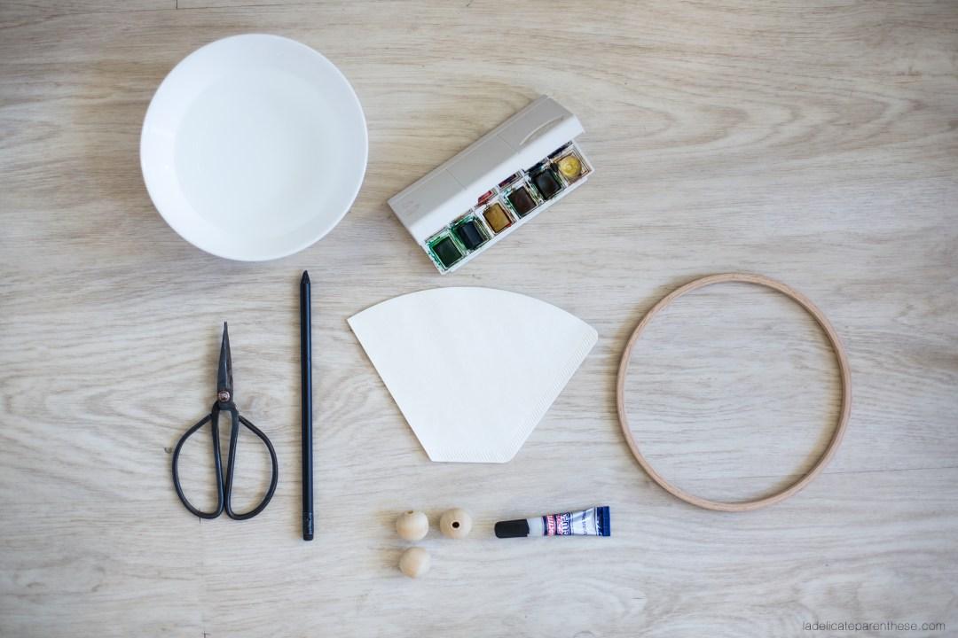 Handmade couronne fleur papier vaiana disney outils création