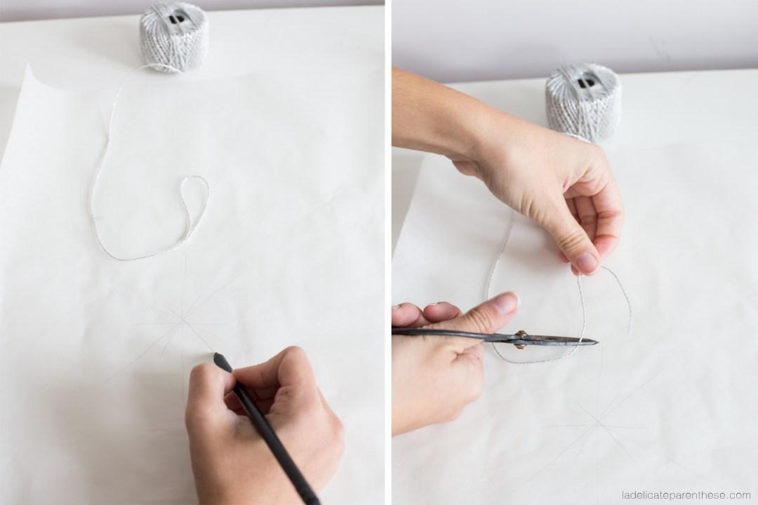 creation flocons de neige DIY handmade noel