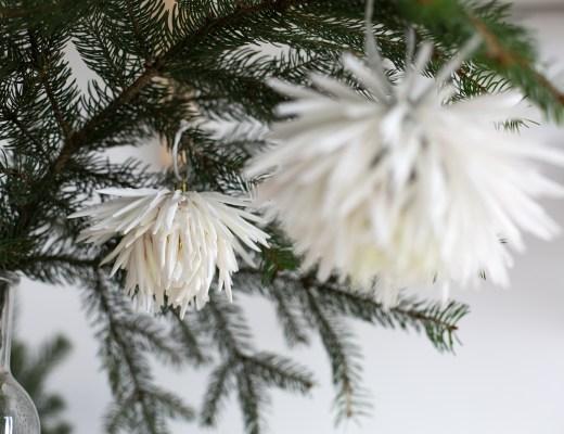 décoration DIY blog déco boule de noel fleurie