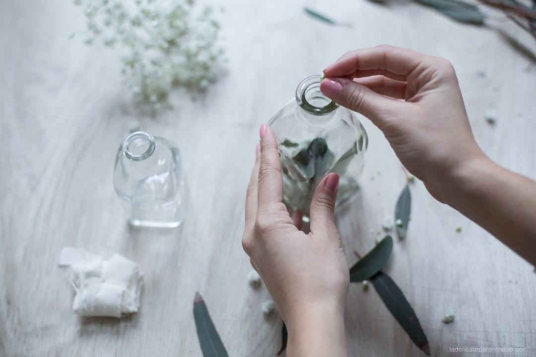 Flacon floral DIY blog décoration