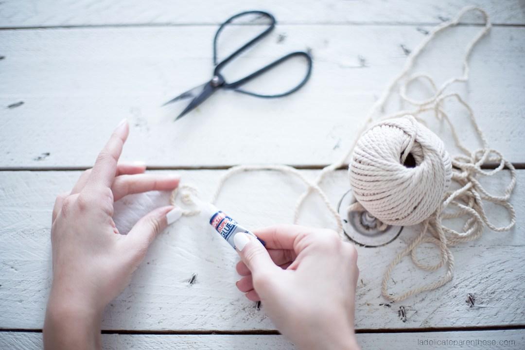 réalisez un cache pot en corde DIY handmade