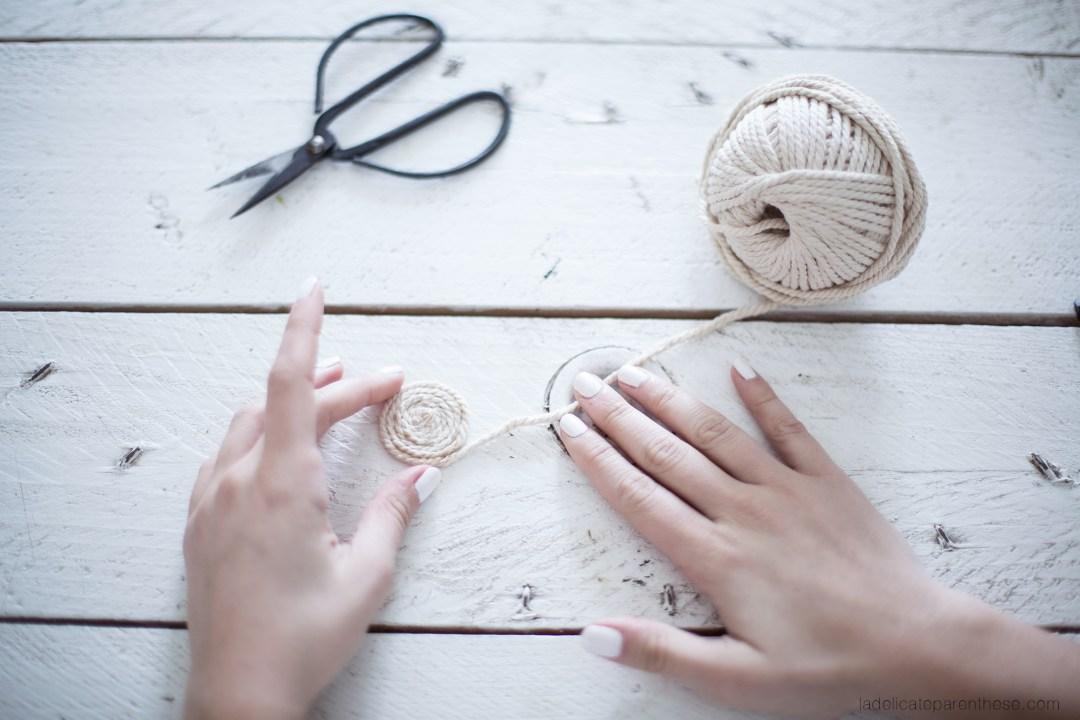 des caches pots en cordes pour un DIY EXPRESS