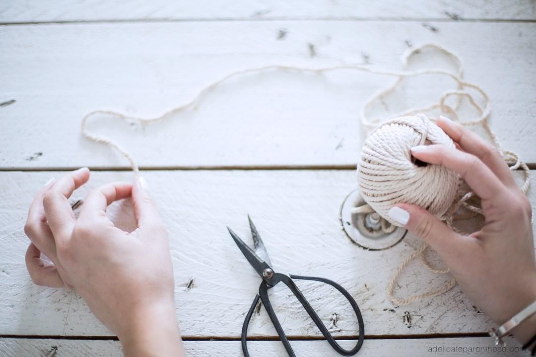 Un cache pot en corde DIY décoration