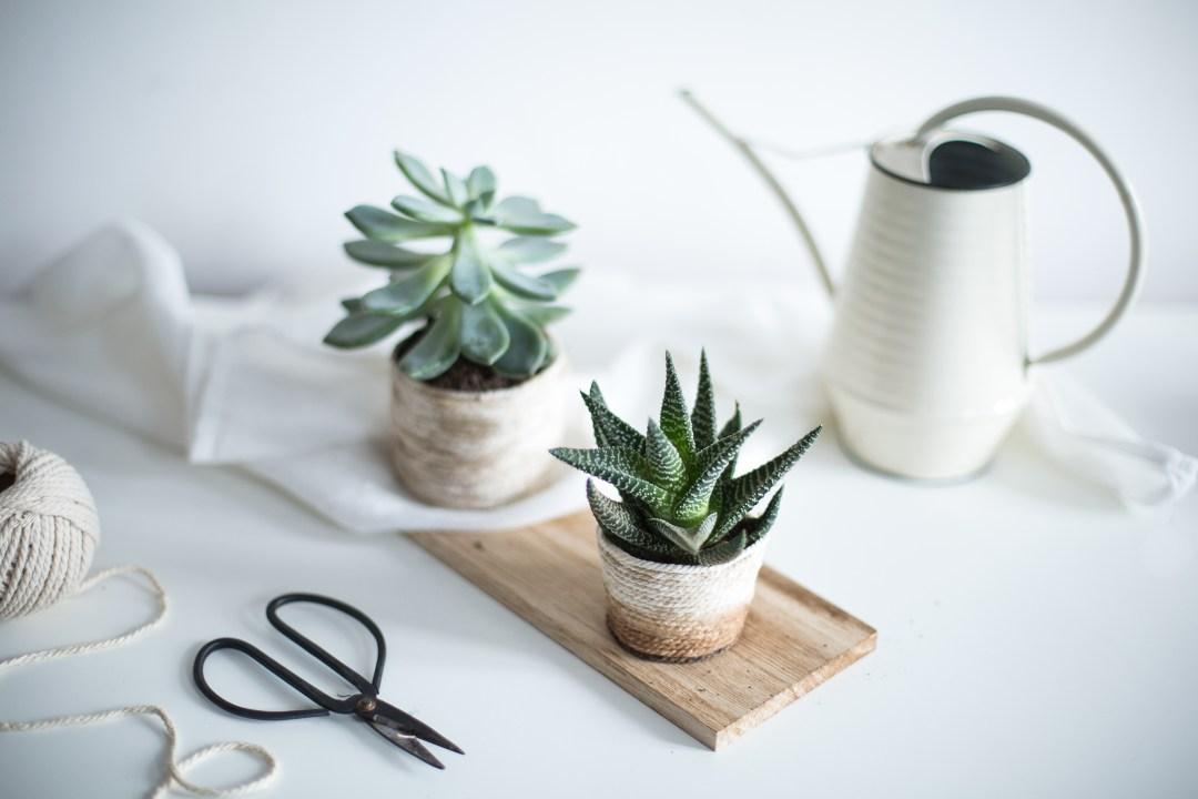 Home décoration handmade cache pot en corde